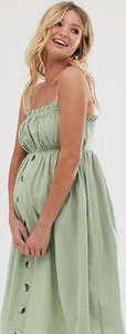 Zielona sukienka Asos z lnu