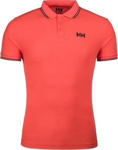 Czerwona koszulka polo Helly Hansen