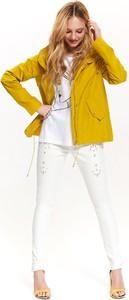 Żółta kurtka Top Secret w stylu casual