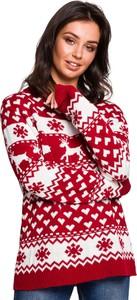 Sweter BeWear w bożonarodzeniowy wzór