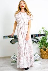 Sukienka Olika z krótkim rękawem maxi