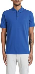 Niebieska koszulka polo Hugo Boss z krótkim rękawem w stylu casual