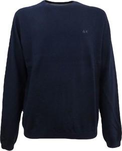 Niebieski sweter Sun 68 w stylu casual z wełny