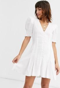 Sukienka Bec & Bridge z krótkim rękawem z lnu