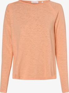 Pomarańczowy t-shirt Rich & Royal w stylu casual z długim rękawem