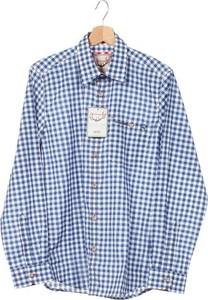 Niebieska koszula STOCKERPOINT w stylu casual z długim rękawem z klasycznym kołnierzykiem