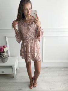 Różowa sukienka chloee.pl z bawełny