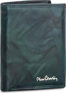 Zielony portfel męski pierre cardin ze skóry
