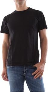 Czarny t-shirt Bomboogie z krótkim rękawem w stylu casual