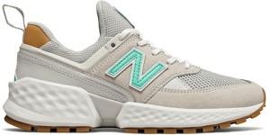Buty sportowe New Balance z płaską podeszwą z zamszu w młodzieżowym stylu