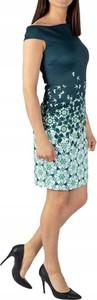 Zielona sukienka Ted Baker z okrągłym dekoltem