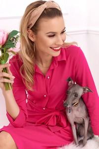Różowa sukienka Fasardi z bawełny mini