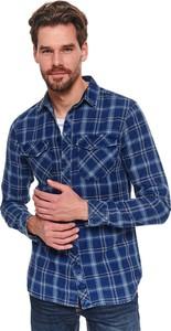 Niebieska koszula Top Secret z długim rękawem