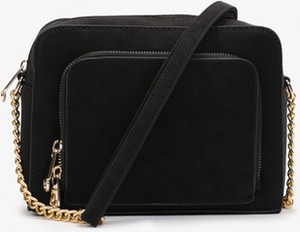 Czarna torebka Esclusivo.pl w stylu glamour matowa średnia