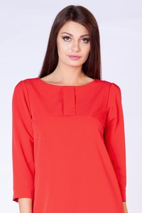 Sukienka butik-choice.pl z długim rękawem z okrągłym dekoltem