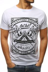 T-shirt Dstreet z krótkim rękawem z bawełny w młodzieżowym stylu