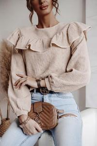 Bluzka Shopaholics Dream w stylu casual z długim rękawem