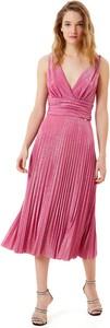 Różowa sukienka Liu-Jo midi