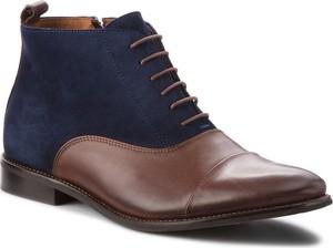 Buty zimowe Quazi sznurowane z zamszu