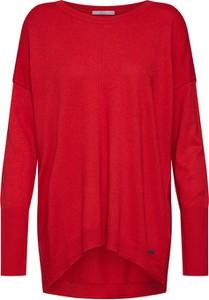 Czerwony sweter edc by Esprit w stylu casual z dzianiny