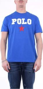 Niebieski t-shirt POLO RALPH LAUREN z krótkim rękawem z bawełny w młodzieżowym stylu