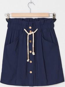 Granatowa spódnica House w stylu casual mini