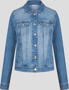 Niebieska kurtka ORSAY krótka z jeansu w młodzieżowym stylu