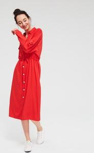 Czerwona sukienka Diverse w stylu casual