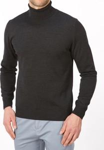 Brązowy sweter Lanieri w stylu casual z wełny
