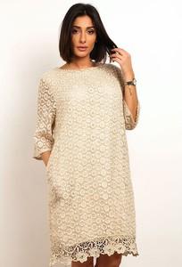 Sukienka Plus Size Fashion w stylu casual mini z długim rękawem