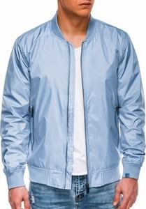 Niebieska kurtka Ombre w stylu casual