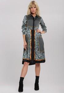 Sukienka Renee w stylu casual midi z kołnierzykiem