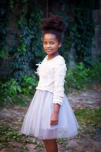 Sukienka dziewczęca Małami w kwiatki
