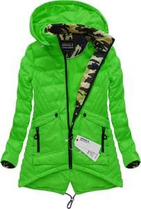 Zielona kurtka speed.a w militarnym stylu moro