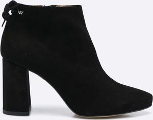 Czarne botki Wojas