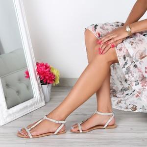 Sandały Royalfashion.pl ze skóry ekologicznej w stylu casual z klamrami