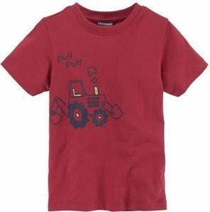 Czerwona koszulka dziecięca kidsworld z dżerseju