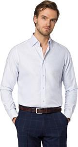 Koszula LANCERTO z bawełny z klasycznym kołnierzykiem