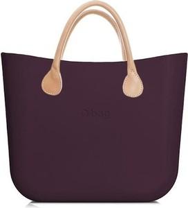 Fioletowa torebka O Bag w stylu casual duża