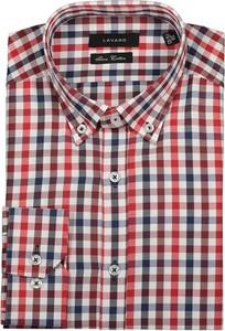 Czerwona koszula Lavard z bawełny