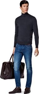 Granatowe jeansy LANCERTO