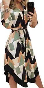 Sukienka Arilook w stylu casual midi z długim rękawem