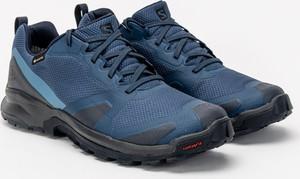Granatowe buty trekkingowe Salomon sznurowane