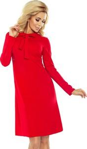 Czerwona sukienka NUMOCO midi trapezowa