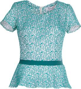 Zielona bluzka Fokus z krótkim rękawem