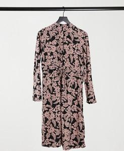 Sukienka Pieces midi z golfem z długim rękawem