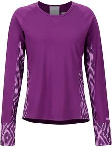 Fioletowy t-shirt Marmot w rockowym stylu