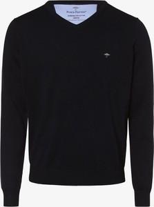 Granatowy sweter Fynch Hatton z bawełny