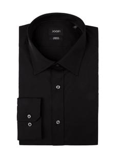 Czarna koszula Joop! z klasycznym kołnierzykiem z bawełny