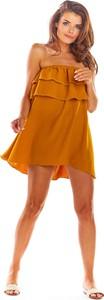 Pomarańczowa sukienka Awama oversize